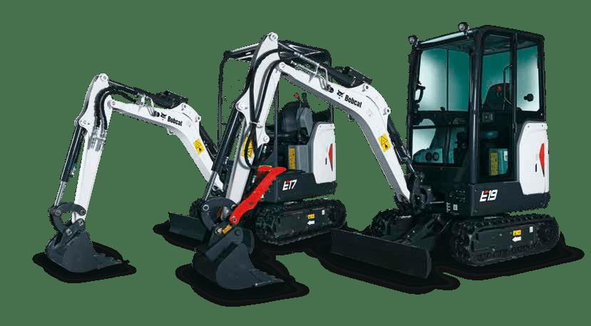 Bobcat mini excavator for hire